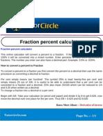 Fraction Percent Calculator