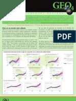 GEO-4 Boletín Informativo, cambio climatico