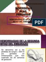 HEMORRAGIA DE LA 2° MITAD DEL EMBARAZO
