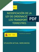 Modificacion LeyOrdenacinTransportesTerrestres