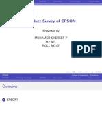 MEMS product survey of EPSON