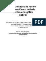 Comunicado a la nación Evaluacion Electro Energetica (Plan de Gobierno 2013-2019)