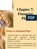 Chap 7 Financial Plan