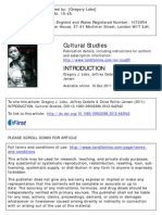 Introduction The institutionalization of cultural studies in Latin America