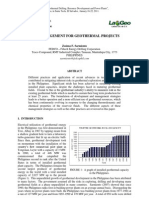 Risk Management for Geothermal Projects