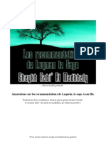 Annotations sur les recommandations de Luqman le sage à son fils sheikh rabi