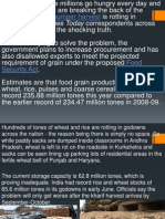 Rotting of Food Grains