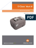 E-Class Mark III Printer Spanish Manual