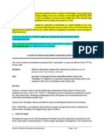 Sample - Custom iPhone App Development Agreement, Custom Software Development Agreement