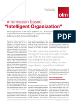 Information Based Intelligent Organization