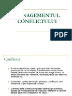 Curs 5 - Managementul Conflictului