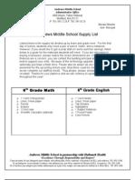 Supply List 7.3.12