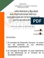 Equidad DesarrolloHumanoyEquidadYolandaDelia