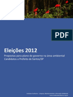 Propostas para Plano de Governo na Área Ambiental