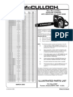 McColloch Chainsaws 32cc 35cc 38cc Anti Vibe Illustrated Parts list