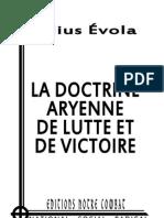 Evola Julius, Doctrine Aryenne de Lutte Et de Victoire (2012)