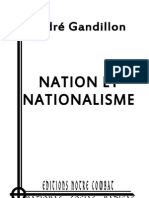 Gandillon André, Nation et Nationalisme (2012)