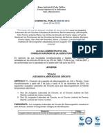 Acuerdo PSAA12-9509  Se crean Juzgados Laborales de descongestion (2) y Pequeñas Causas (2)