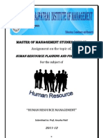 Introduction to Human Resource Planning