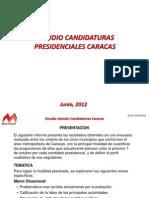 Presentacion Estudio Candidatura Presidencial Caracas Junio 2012
