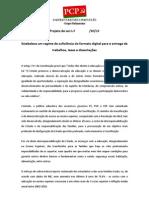 Estabelece um regime de suficiência do formato digital para entrega de trabalhos teses e dissertações