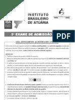 Exame de Admissão_IBA 2010