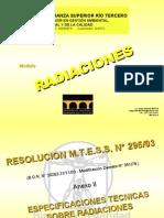 HUGO MARTIN ATOMICA CORDOBA RADIACIONES RESOLUCION MTESS 295