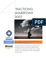 Practicing SharePoint 2007-Backup and Recovery