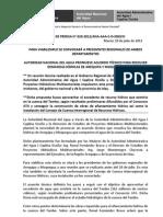 BOLETÍN DE PRENSA 020-2012