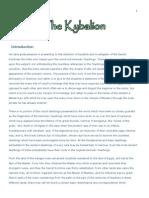 Kybalion Secret  Doctrines of Hermetic Teachings