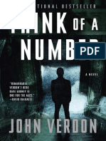 Think of a Number by John Verdon - Excerpt
