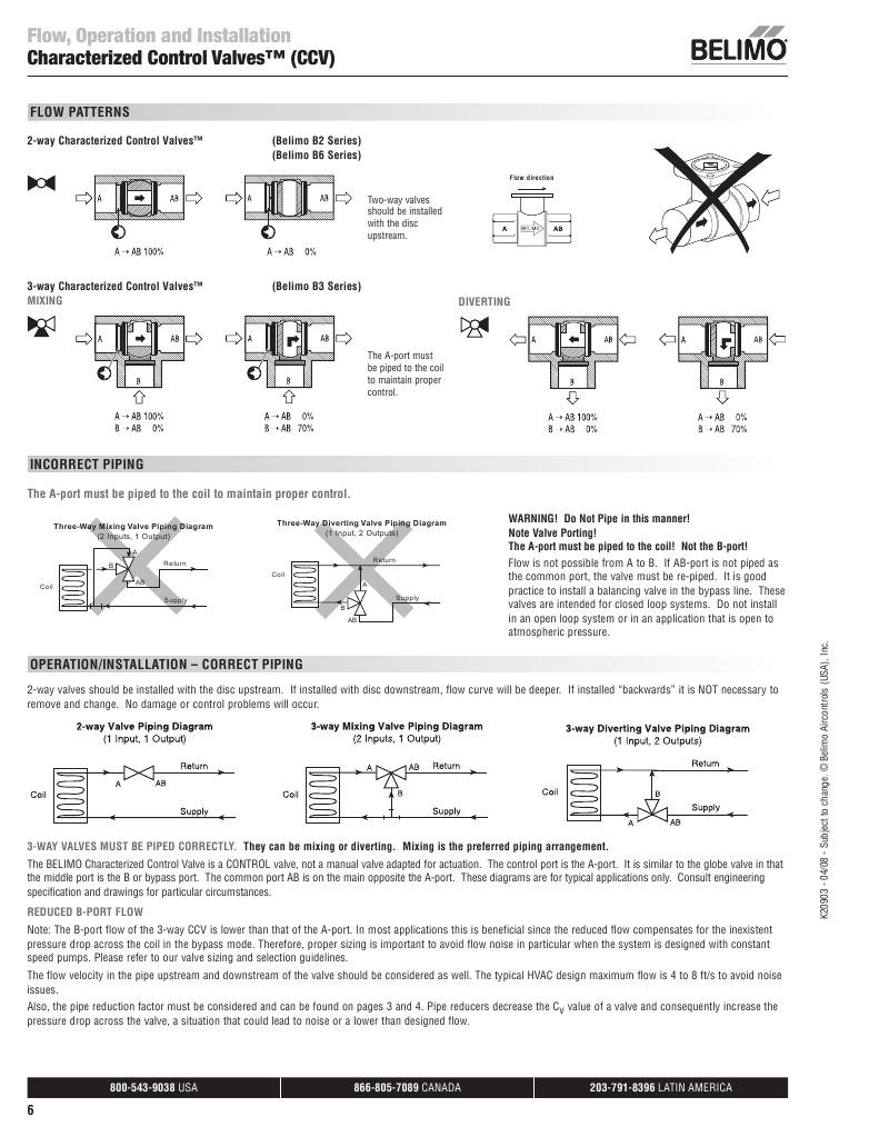 ccv installation instructions valve fluid dynamics rh es scribd com siemens 3 way valve piping diagram 3 way mixing valve piping diagram
