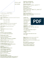 Formulario - Algebra Lineal I