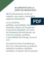 OTORGAMIENTO DE LA CONCESIÓN DE BENEFICIO