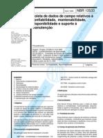 Coleta de dados de campo relativos à confiabilidade, mantenabilidade, disponibilidade e suporte à manutenção