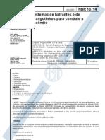 ABNT NBR 13714 Sistemas de Hidrantes e Mangotinhos