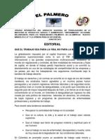 El Palmero Organo Informativo del sindicato de Trabajadores/as de la Industria de Productos Grasos y Alimenticios SINTRAIMAGRA Intersindical