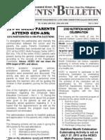 Parents Bulletin # 3, s. 2012