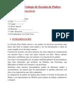 Plan de Trabajo de Escuela de Padres Liz