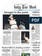 The Daily Tar Heel for July 12, 2012