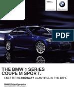Ficha Tecnica BMW 125iA Coupe M Sport (Automatico) 2013