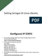Setting Jaringan Di Linux Ubuntu