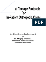 Orthopedic in Pt PT Protocol