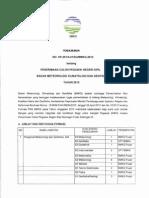 Dokumen Pengumuman Penerimaan Calon Pegawai Negeri Sipil Badan Meteorologi Klimatologi Dan Geofisika Tahun 2012