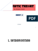 Linguistic Theory (Jacques Lacan) powerpoint/pdf