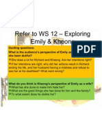 Mind Maps for Emily & Kheong WS 12