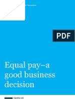 Equal Pay a Good Business Decision