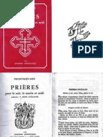 PROSEVKHITAIRE Livre de prières orthodoxes traduit du grec