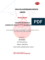 Evaluation of Segmentation Model-Coca Cola Company