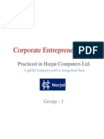 Corporate Entrepreneurship - Harjai